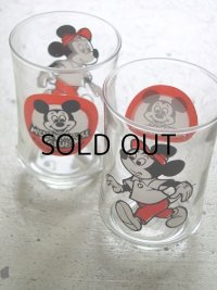 Libby Glass ミッキーマウスクラブ ミニグラス2コセット/MICKEY MOUSE CLUB mini GLASS 2pc set