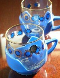 SASAKI  プラスチックハンドル付きプリントグラス 各1個
