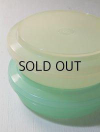 TUPPERWARE タッパーウェア seal n serve bowls シールアンドサーブ パステルグリーン、イエロー