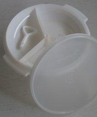 Tupperware タッパーウェア スゼット size: Ø21.3×D4.8(ポールハンドルまでH10)×(W23.5)(cm) color: ホワイト
