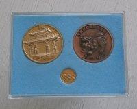 沖縄国際海洋博覧会 記念コイン3pcセット&EXPO'75 OKINAWA昭和50年 100円硬貨 1pc