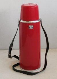 """TIGER タイガー魔法瓶 保温水筒ピックボトル""""ハンディー"""" color: 赤 容量:0.92L  ベルト付"""