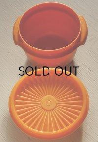 Tupperware タッパーウェア (ユーズド) ベルボピー/ストーレージ/コンテナボウル color: オレンジ size: Ø11.5(W13)×H9.4×Ø8.8(cm)