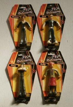 """画像1:  MTV 「The Osbournes(オズボーンズ)」 キャラクター アクションフィギュア  Fun-4-All """"The Osbourne Family""""  Bendable set of 4 (Ozzy,Kelly,Sharon,Jack)"""