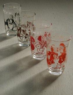 画像1: Kraft SWANKY SWIGS KIDDY ANIMAL GLASSES クラフト社 スワンキー・キディ・グラス アニマルプリント color: オレンジ/レッド/ブラウン/ブラック  各1個