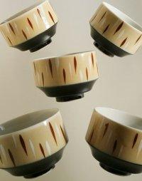 湯呑茶わん color: ベージュ、ブラック size: Ø7.6×H7.3 (cm) 各1個