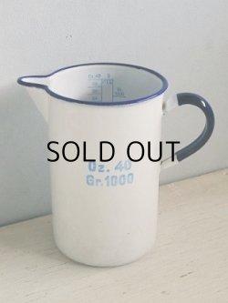画像1: KOCKUMS SWEDEN Oz. 40 Gr. 1000 ホーローメジャーカップ/ジャグ size : Ø10cm×H16.6(cm)