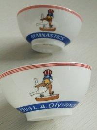 1984 L.A.Olympics GYMNASTICS  イーグルサム(鞍馬) セラミックお茶碗