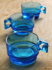 コバルトブルー ガラスマグカップ size: Ø8.4×H5.5(cm) 各1個