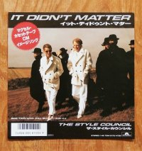 "EP/7""/Vinyl/Single  ""IT DIDN'T MATTER イット・ディドゥント・マター/ WHO WILL BUY フー・ウィル・バイ"" THE STYLE COUNCIL ザ・スタイル・カウンシル (1986) Polydor"