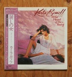 """画像1: LP/12""""/Vinyl   """"WILD HEART OF THE YOUNG  麗しの女""""  KARLA BONOFF カーラ・ボノフ  (1982)  CBS/SONY  帯/歌詞カード/オリジナルスリーヴ(各曲の参加ミュージシャンが記されています。)"""