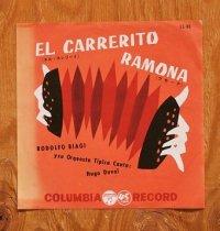 """EP/7""""/Vinyl/Single  """"エル・カレリーナ/ラモーナ""""ロドルフォ・ビアジ楽団(1950's/1960's) COLOMBIA"""