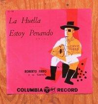 """EP/7""""/Vinyl/Single  """"ラ・ウェージャ/哀愁こめて"""" ロベルト・フィルポ四重奏団(1950's/1960's) COLOMBIA"""