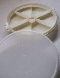 """Tupperware タッパーウェア オードブル皿 """"Party Susan(パーティースーザン)"""" Ø32cm/ホワイト (ハンドルなし)"""