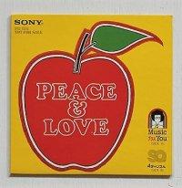 """EP/7""""/Vinyl/Single  SQ 4チャンネル PEACE &LOVE """"知床旅情/女の意地/CECILIA/ROSE GARDEN """" 土持城夫/JUN NANBARA/LYN ANDERSON SONY"""