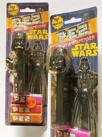 "PEZ CANDY&DISPENSER ""STAR WARS"" Darth Vader  MADE IN SLOVENIA 4.966. 305 ペッツ(台紙付タイプ) ""スターウォーズ ダースベーダー""  各1個"