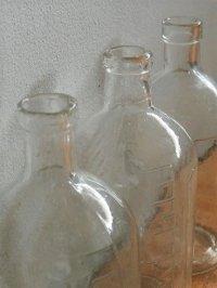 薬瓶 クリアー硝子  size: topØ1.8cm×L12.5cm×underØ5.4cm