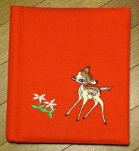 バンビ刺繍 フォトアルバム:シルバーポートシート