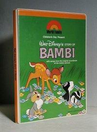 World Family Children's Day Present  WALT DiSNEY'S STORY OF BAMBI バンビのカセットブック 絵本/ぬりえ/カセットテープ/ブランクテープ