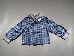 画像1: mary jane   チェック柄:ネイビーブルー   女の子服   size 5  アメリカサイズ 5 /  日本サイズ 5才
