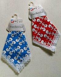 Handkerchief ハンカチーフ 1枚   プードル   綿100% size: 29×29(cm)