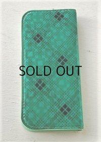筆箱/ペンケース ビニールカバー color: グリーン ブラックパターン size: L21.3×W9.7×D2.5(cm)