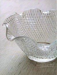 プレスガラス小鉢 クリアー