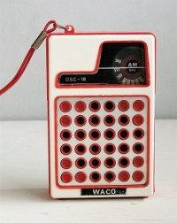 WAKO   ポケットラジオ OSC-18    AM専用 535-1605KHz   MADE IN HONG KONG