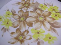 アポロウェア フラワープリントメラマックプレート / Apollo Ware MELMAC PLATE  flower 各1枚
