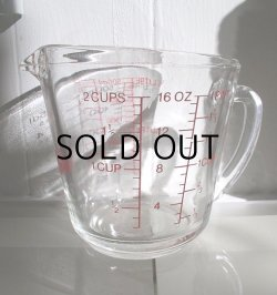 画像1: Fire-King ファイヤーキング グラスメジャーカップ size: 2CUPS/16OZ/500ml