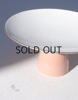 画像1: TOYO TOKI (東洋陶器) MOONLIGHT 脚付き皿 コーラルピンク