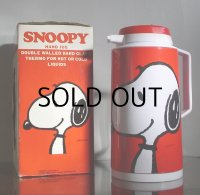 SNOOPY スヌーピー PUSH BUTTON ACTION HAND JUG (卓上用魔法瓶  1リットル仕様)  K-808