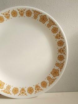 画像1: バタフライゴールド  ディナープレート/サーバープレート  size: ⌀26cm  各1枚
