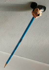 MICKEY MOUSE  ミッキーマウスラバーヘッド付きDisnyland 鉛筆  ©Walt Disny Productons