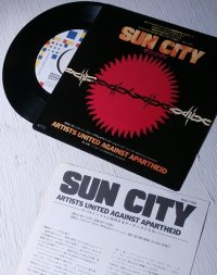 EP/7inch/ シングルレコード Sun City(サン・シティ)/ NOT SO FAR AWAY(Dub Version)  歌・演奏 ARTISTS UNITED AGAINST APARTHEID