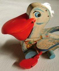 "Fisher・Price Toys フィッシャープライス プルトイ ""ビッグ・ベル・ペリカン"" Pellican 794 Big Bell 1961"
