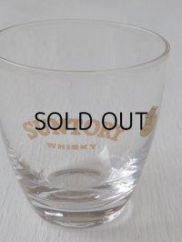 SUNTRY WHISKY ゴールドプリントグラス SASAKI GLASS TOKYO