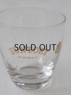 画像1: SUNTRY WHISKY ゴールドプリントグラス SASAKI GLASS TOKYO