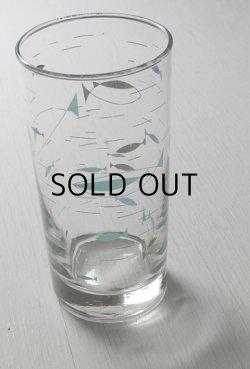 画像1: Libbey Glass リビーグラス 60'sプリントグラス アトミックフィシュ