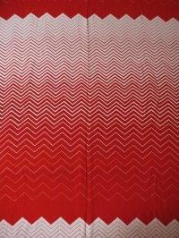 コロナール戸部 生地(ワンピース着分) グラデーション(紅白)パターン size:92×300cm
