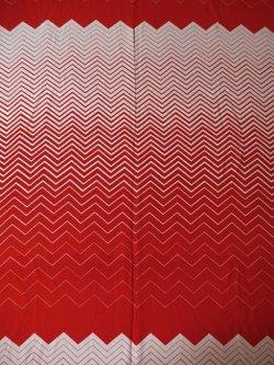 画像1: コロナール戸部 生地(ワンピース着分) グラデーション(紅白)パターン size:92×300cm