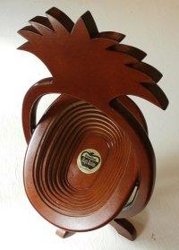 "Hawaiian Magic Basket   折り畳み式ハンドクラフトバスケット ""パインナップル"""
