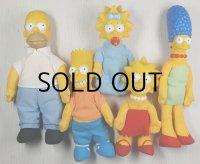The Simpsons™ Matt Groening ©1990 20th C. FOX F.C.  ザ・シンプソンズ バーガーキングミールトイ プラッシュドール5pcセット