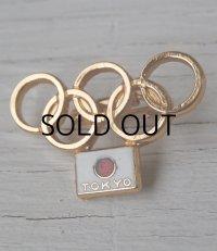 TOKYO OLIMPIC 日の丸東京オリンピックバッチ 1964 size:L3cm× H1.5cm