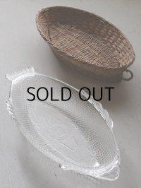 "GLASBAKEグラスベイク Basketware Fish Platter""TROUT"" バスケットウェア トラウト 耐熱ガラス大皿"