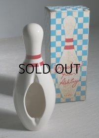 Bowling Pin Ashtray  NO. M-46  ボウリングピン型  セラミック製灰皿  MIZUNO CO.,LTD.