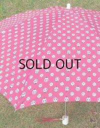 ムーンバッド 折り畳み傘 ピンク/てんとう虫&花柄