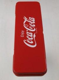 """東京コカ・コーラボトリング株式会社 工場見学記念 """"Enjoy Coca-Cola"""" 缶ペンケース/筆箱"""