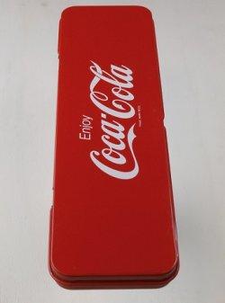 """画像1: 東京コカ・コーラボトリング株式会社 工場見学記念 """"Enjoy Coca-Cola"""" 缶ペンケース/筆箱"""