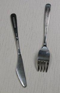 British Airways ブリティッシュ・エアウェイズ ステンレス製ナイフ&フォークセット
